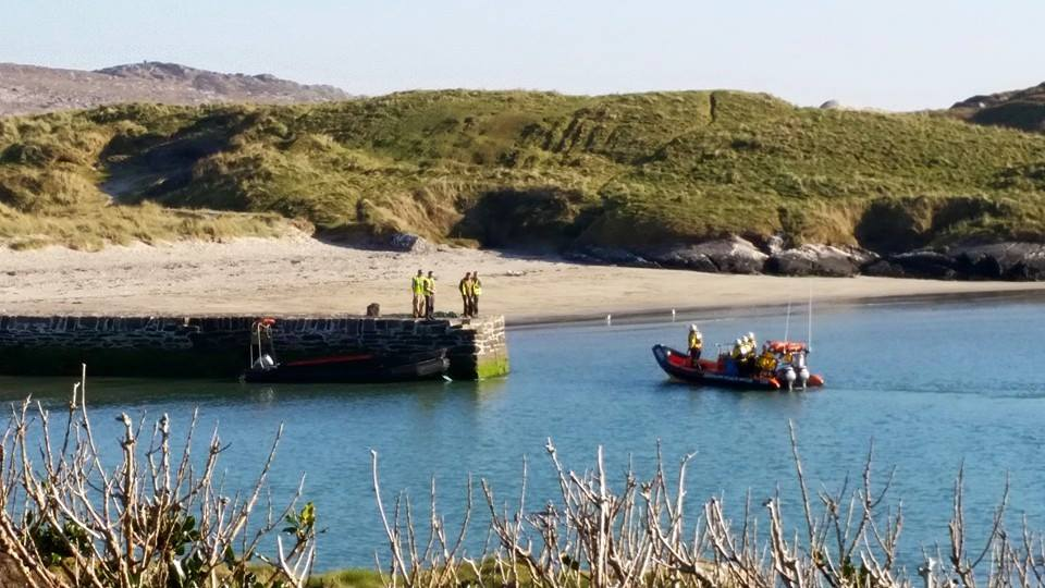 Derrynane Rescue returning the very tired man to Derrynane Harbour